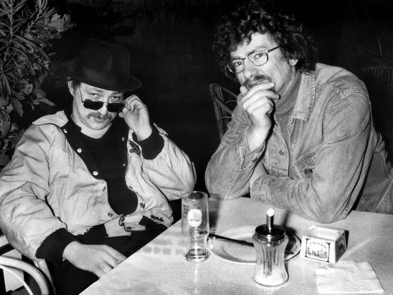 Fassbinder & Christian Braad Thomsen (Foto: Rolf Konow)